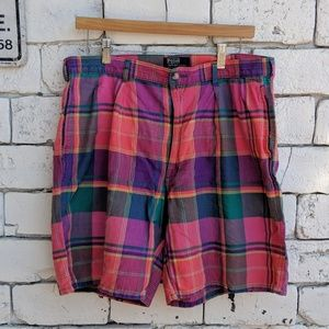 Vintage Polo Ralph Lauren plaid shorts